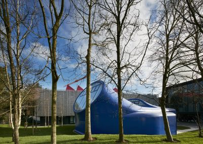 Photo of final Drawing Studio structure at Arts University of Bournemouth