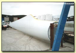 Small photo showing Wind Turbine Blade from Spray Foam Insulated Mould