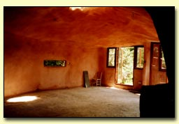 Small photo of underground house insulated by sprayed foam by Isotech