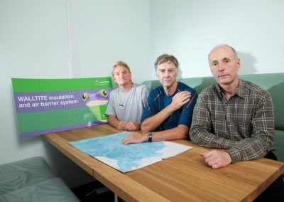 Photo of Sir Ranulph Fiennes Antarctic Ice Group in accommodation container sprayed with insulation foam by Isotech