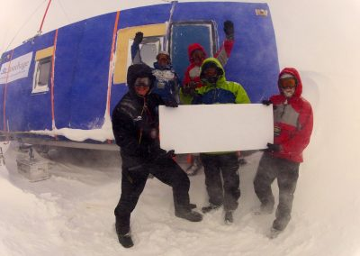Sir Ranulph Fiennes Antarctic Ice Group using Accommodation Container Sprayed with Insulation Foam by Isotech