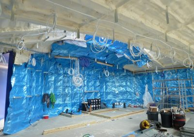 Installing foam insulation to the Arts University of Bournemouth