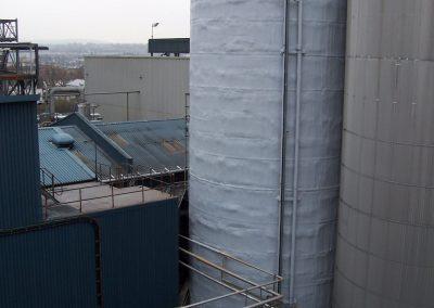 Sprayfoam insulation installed by Isotech at Tate & Lyle Sugar Refinery