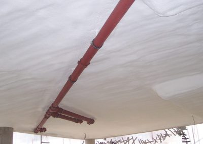 Photo of fire retardant soffit insulation installed by Isotech