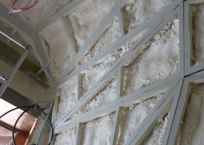 Isotech installing sprayed foam insulation to Churchill War Rooms