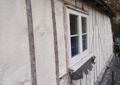 Photo of Sprayed Foam Insulation to Exterior of Tile Hung Elevation