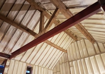 Photo of sprayfoam installed to barn conversion by Isotech