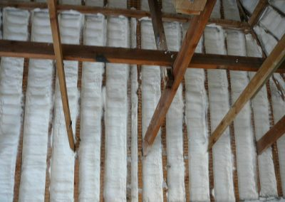 Photo of Sprayed Foam Insulation installed to Tiled Roof by Isotech Sprayfoam