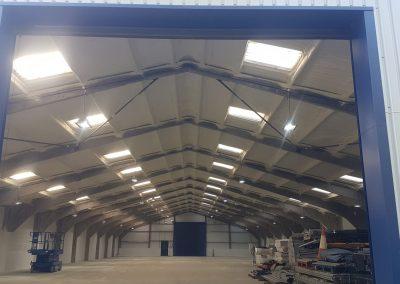 Photo showing warehouse storage insulated by Isotech Sprayfoam